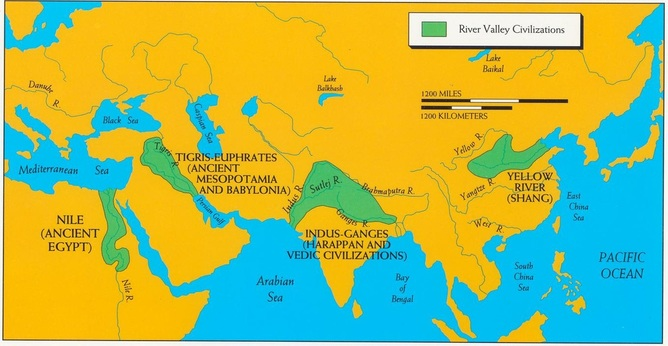 Unit River Valley Civilizations Mr Henson Honors World History I - Huang river world map